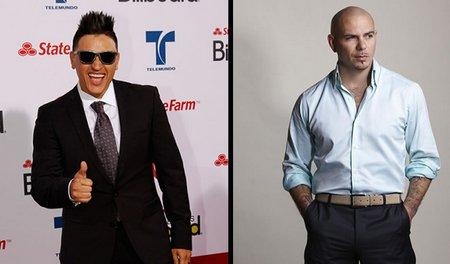 Los-cantantes-Elvis-Crespo-y-Pitbull